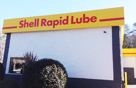 Shell Rapid Lube and Service Center - Building Side